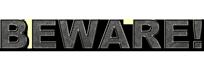 Beware logo sticky